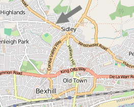 map of sidley and bexhill